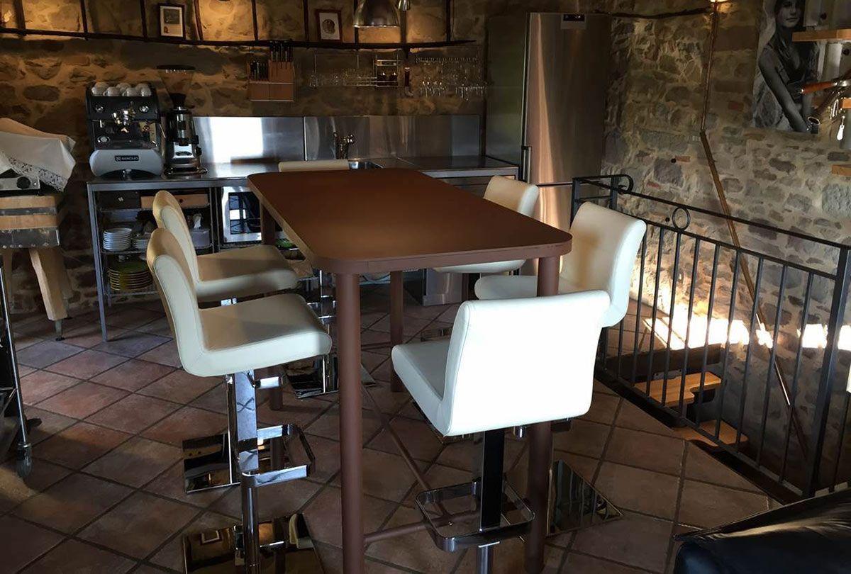 Benjamin voleva una dining room creativa e per completare l