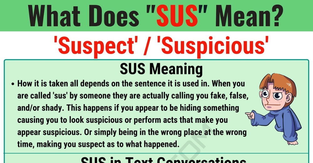 Sus Meaning What Does Sus Mean And Stand For 7esl Text Abbreviations Meant To Be Words