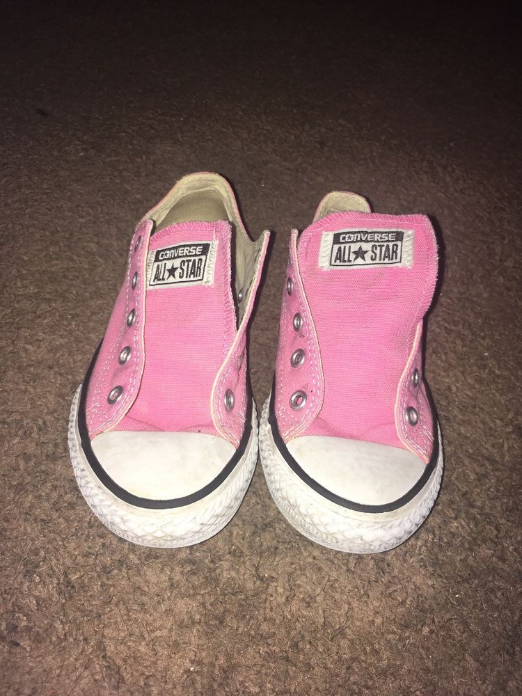 f13fc1280cd593 Girls Pink Converse Size 1  fashion  clothing  shoes  accessories   kidsclothingshoesaccs  girlsshoes
