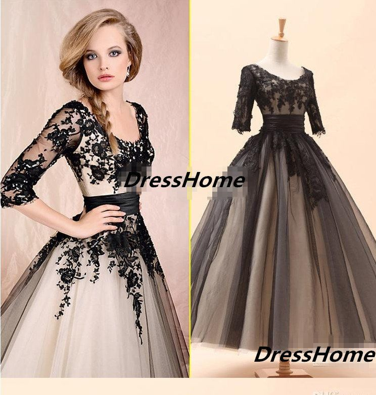 OMG GORGEOUS DRESS!! Sleeve Aline Vintage lace Ball Gown  Vintage by DressHome on Etsy, $189.99