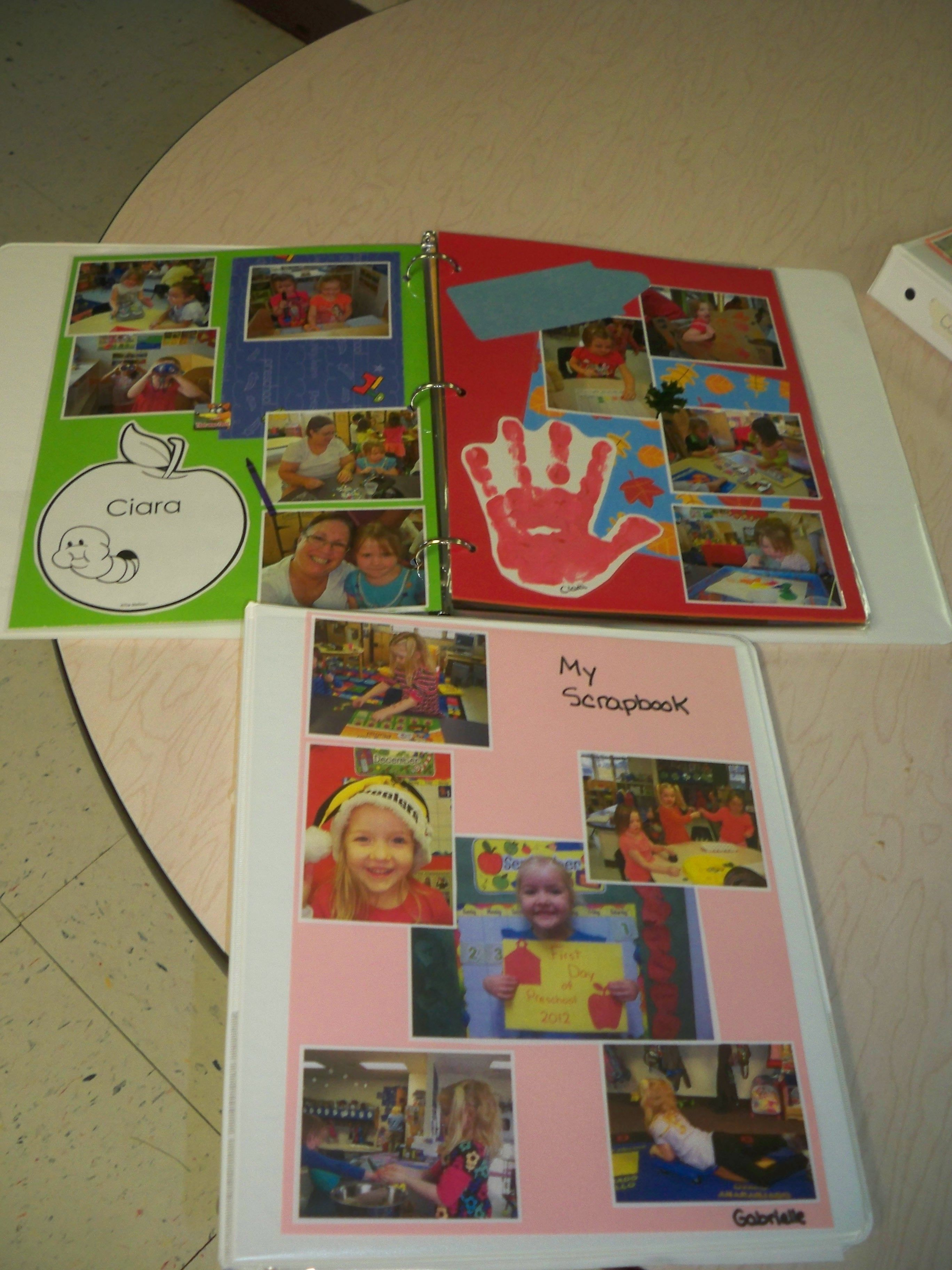 These Are The Scrapbooks That I Make For My Preschool