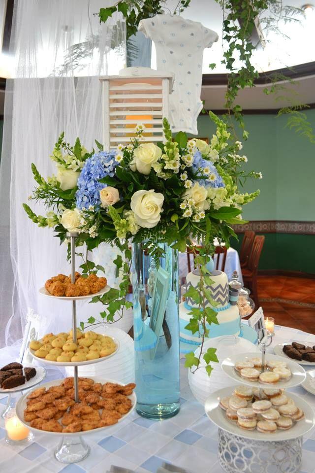Decoraci n de baby shower con dragones blancos hortensia - Decoracion con hortensias ...