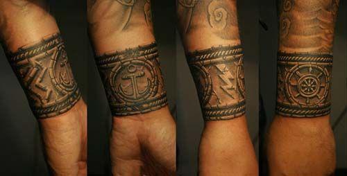 Erkek Bilek Bandı Dövmeleri Wristband Tattoos For Men Tattos