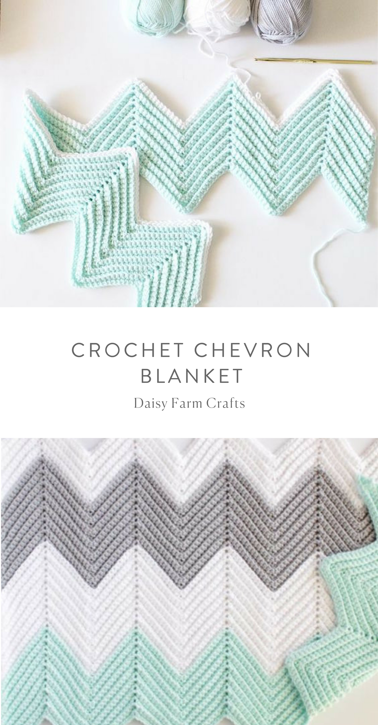 Free Pattern - Crochet Chevron Blanket #crochet