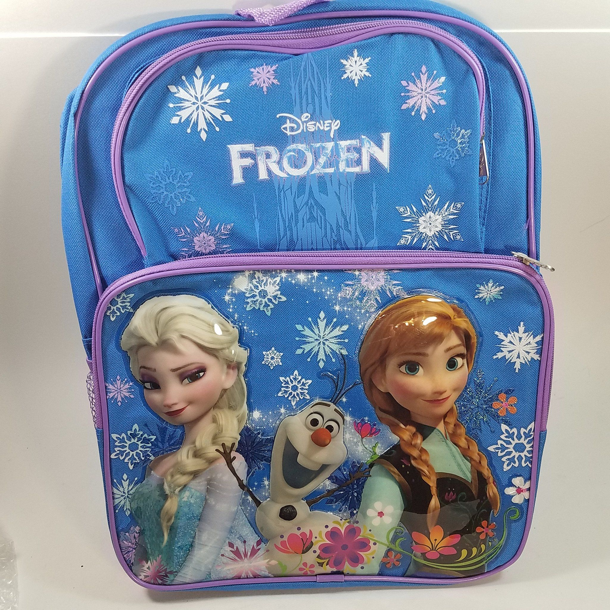 "DISNEY FROZEN ANNA /& ELSA GIRL/'S 16/"" BACKPACK SCHOOL BOOK BAG NWT!"