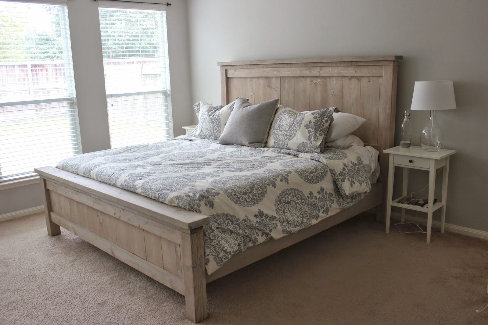 Our Diy Bed Platform Bed Designs Diy Farmhouse Bed Diy Bed
