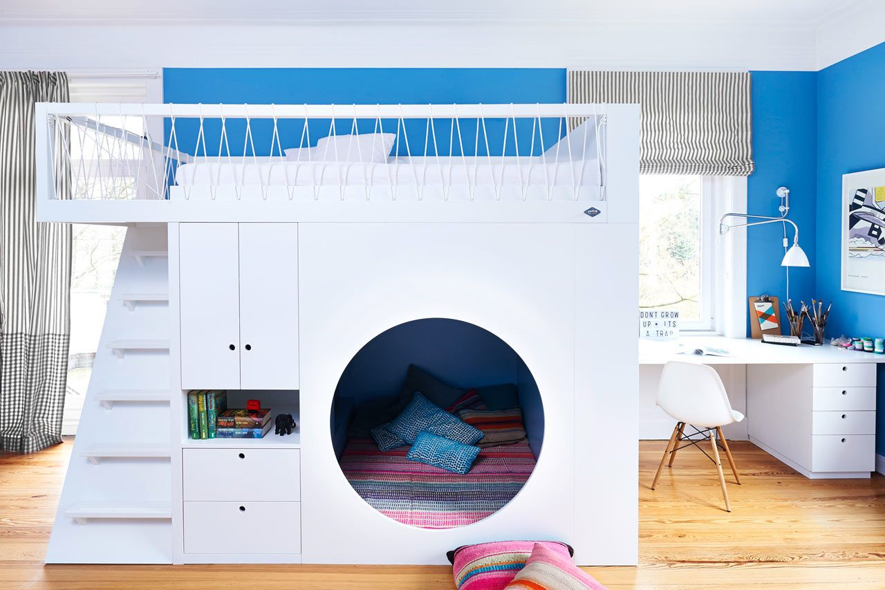 10 Modern Kids Rooms With Not Your Average Bunk Beds Modern Bunk Beds Cool Loft Beds Modern Kids Room