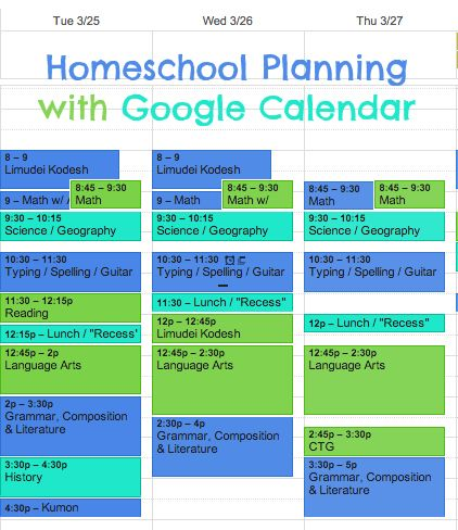 Homeschool Lesson Plans Made Easy With Google Calendar  Google