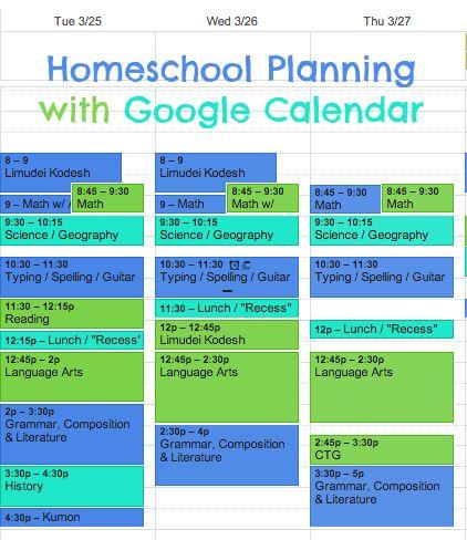 Homeschool Lesson Plans Made Easy with Google Calendar Google - sample school calendar