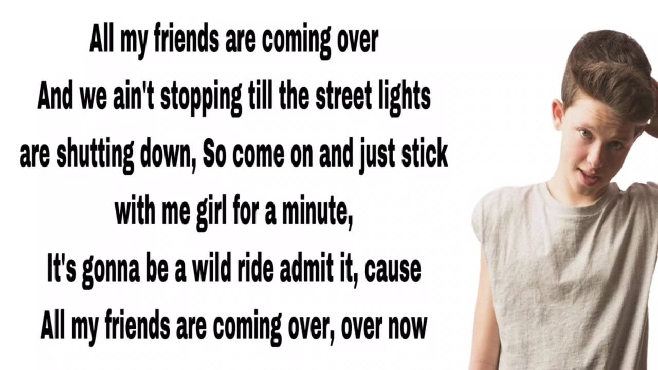 Jacob Sartorius All My Friends Lyrics With Images Jacob