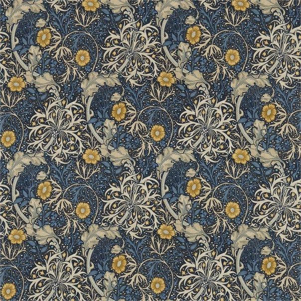 Morris Seaweed Ink/Woad in 2020 William morris art