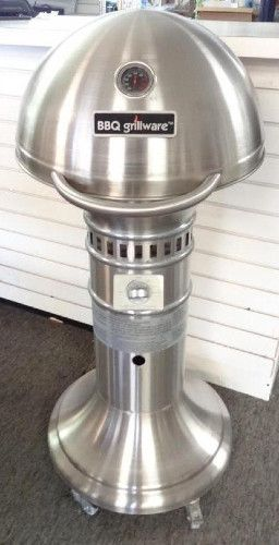 Awesome Grill. Stainless steel BBQ Grillware pedestal gas grill model SSP-2010