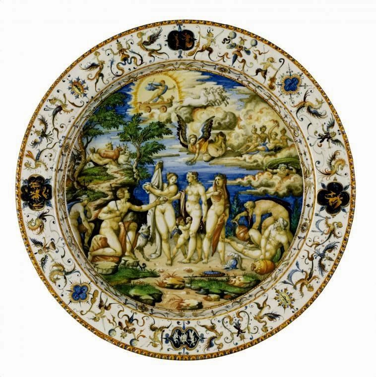 Maiolica Is Italian Tin Glazed Pottery Dating From The Renaissance It Is Decorated In Bright Colours On A White Background Freque Culture Art Art Art Google