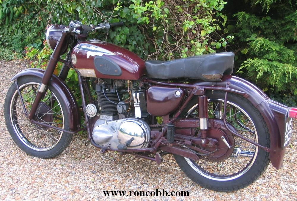 1954 Ariel NH 350cc Red Hunter Classic motorcycle for sale ...