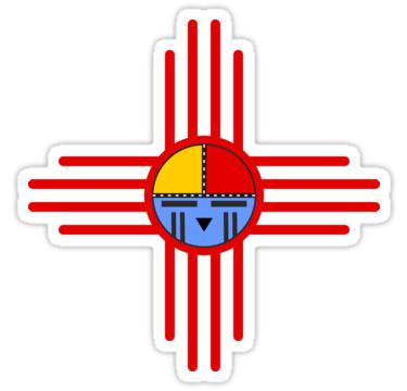Native American Culture Kachina Zia Symbol 3 Sticker By Eddart Native American Culture Native American Symbols
