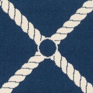 Momeni Baja Nautical Rope Blue Indoor
