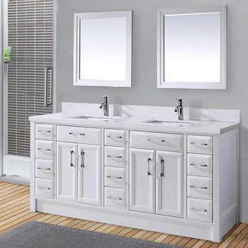 carolina 60 white double sink vanity by lanza bathrooms rh pinterest com