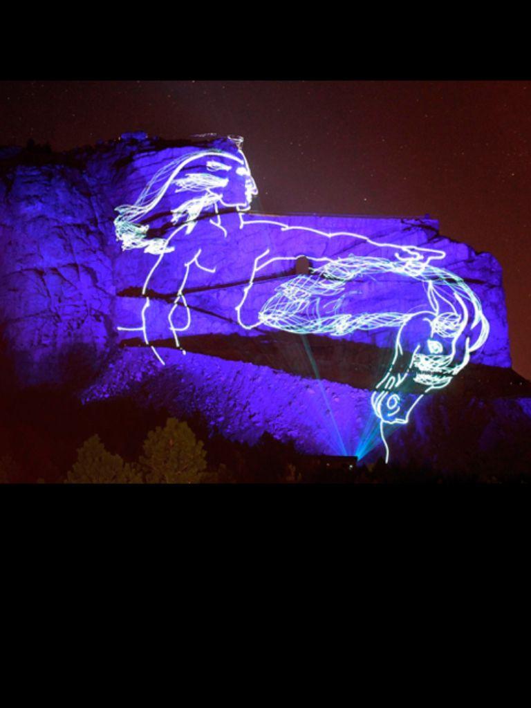Crazy Horse Night Light ShowCrazy Horse monument Concept   Places I ve been   Pinterest  . The Lighting Connection South Dakota. Home Design Ideas