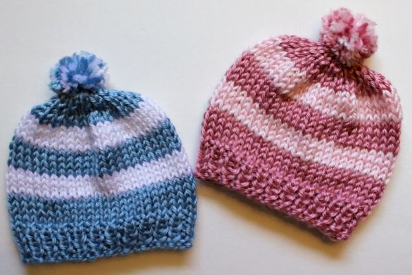 Knitting Newborn Hats For Hospitals Baby Hats Knitting Patterns