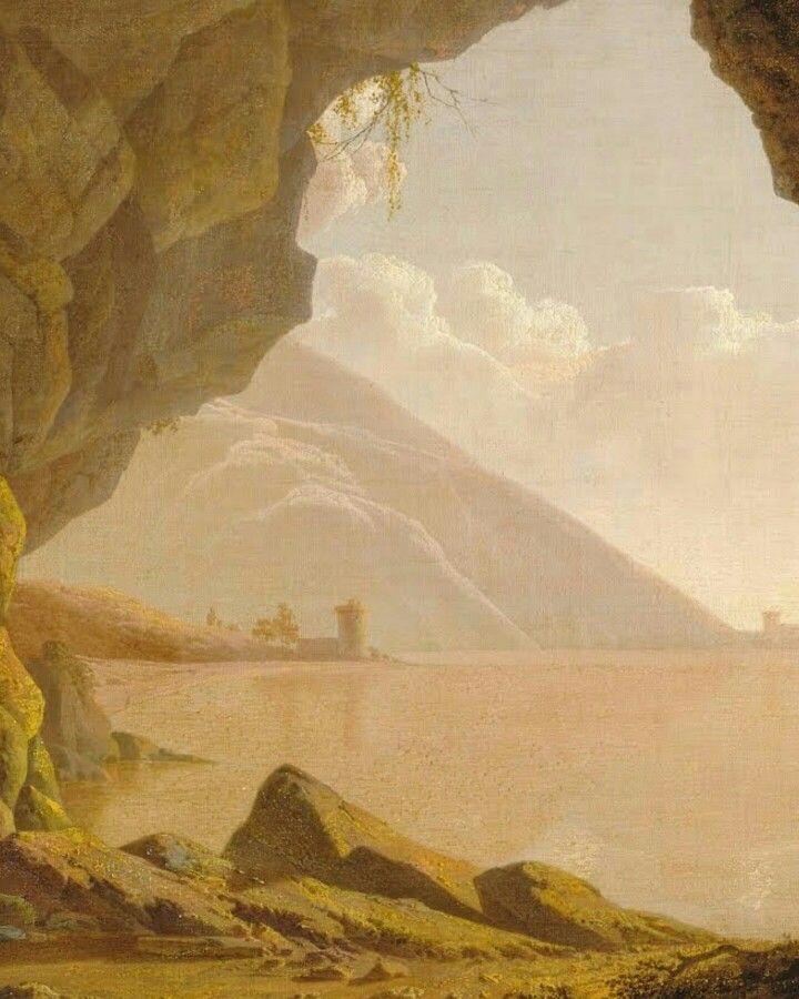 Cavern, near Naples. Joseph Wright. 1774. #naples #art