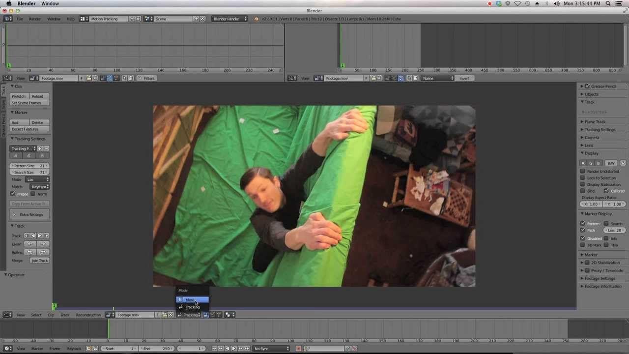 Beginner Blender VFX Tutorial Greenscreen - Masking