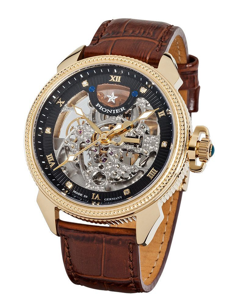 Watch Diamonds In Germany Gold Made Automatic Pionier 'copernicus' oedxCB