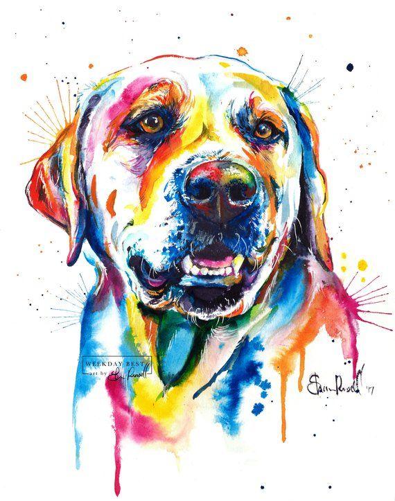 Colorato giallo Lab Art Print - stampa della mia pittura ...