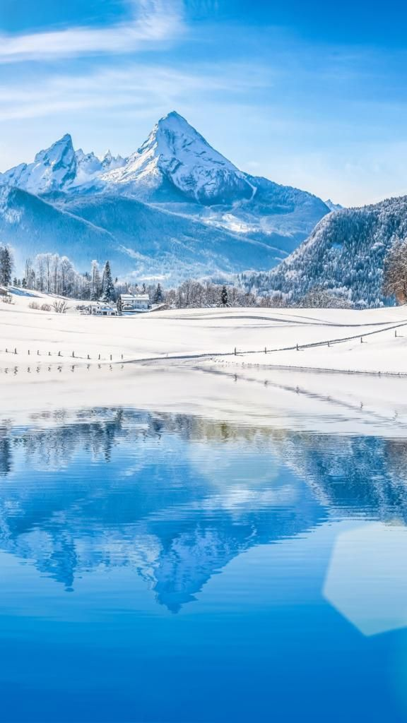 Best Iphone Wallpapers 4k Blue Lake Winter Landscape Best Iphone Wallpapers Winter Landscape Hd Wallpaper 4k