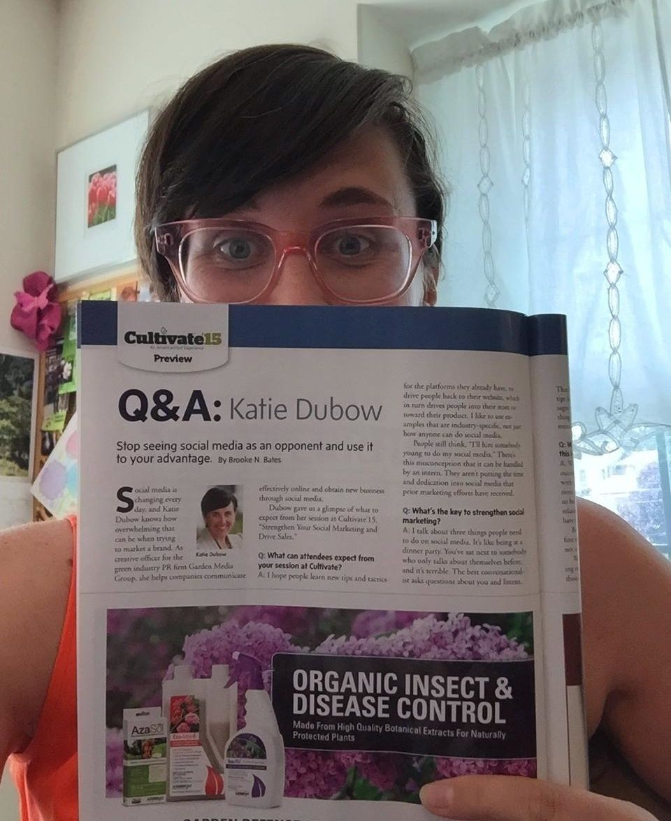Katie Dubow Recently Sat Down With Brooke Bates From Garden Center Magazine To Talk About My Social Media Presentation Grow Blog Public Relations Social Media