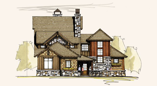 Wedge | Golf Course Home Designs | Golf House Plans | House Plans ...