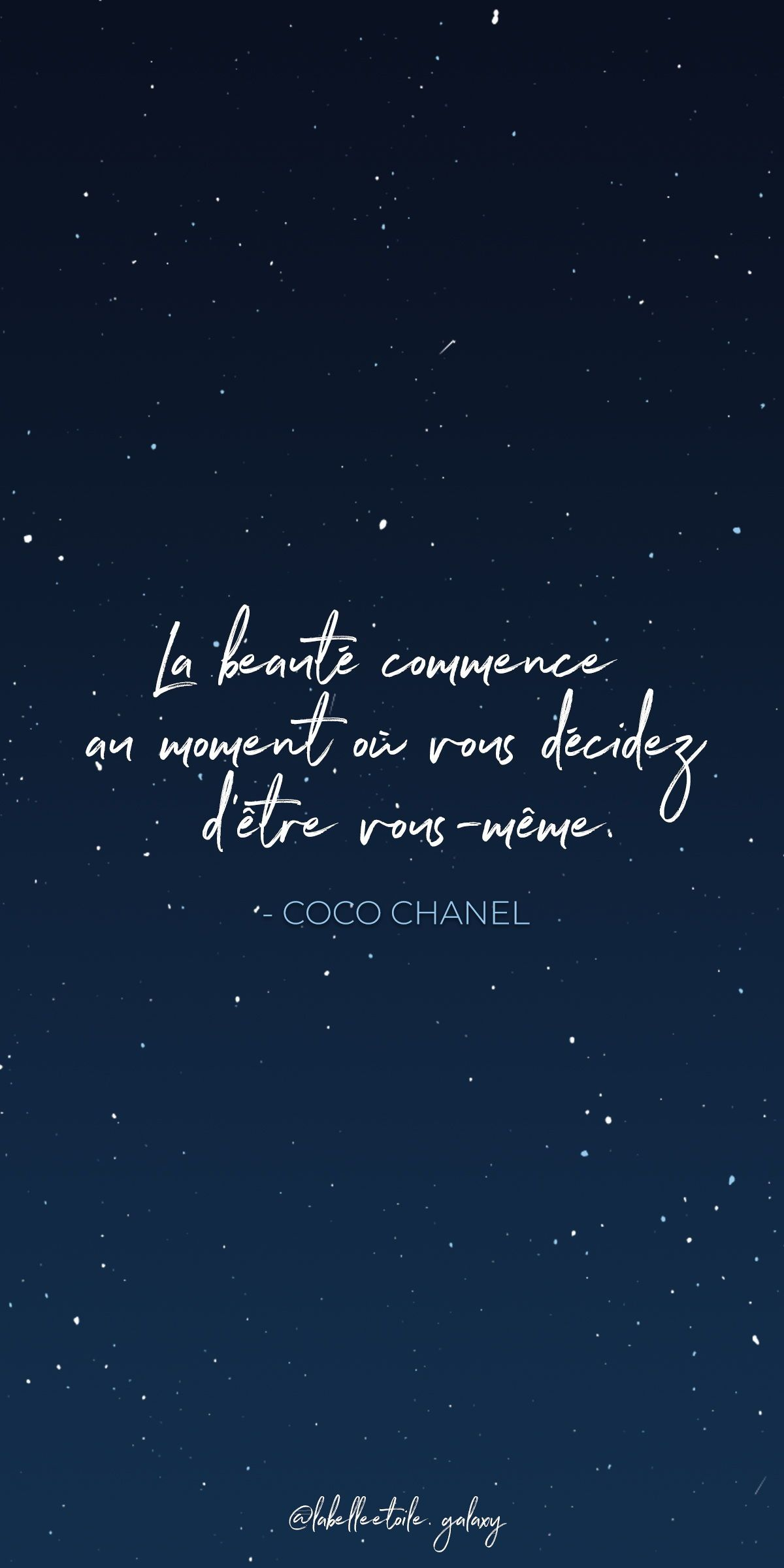 Beauty Begins The Moment You Decide To Be Yourself Coco Chanel French Fashion Designer Bonjour Inspirational French Quotes French Words Paris Quotes