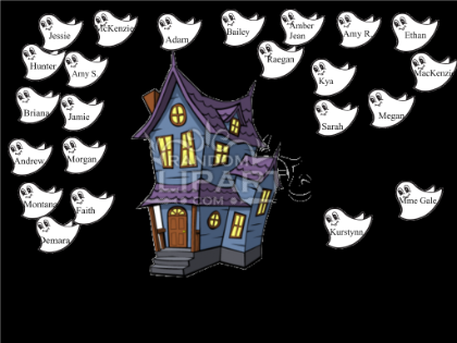 Halloween Attendance Ghosts Say Boo When Name Is Touched
