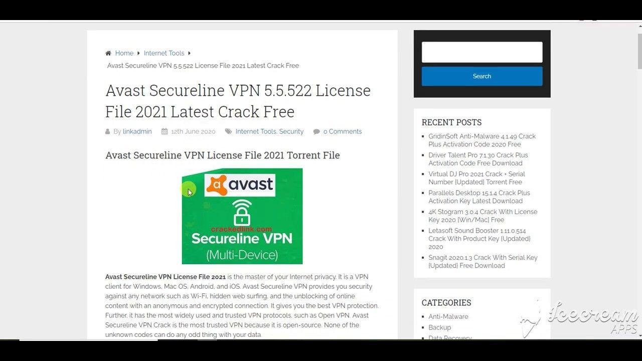 Avast Secureline VPN License Key 2021 Free in 2020 ...