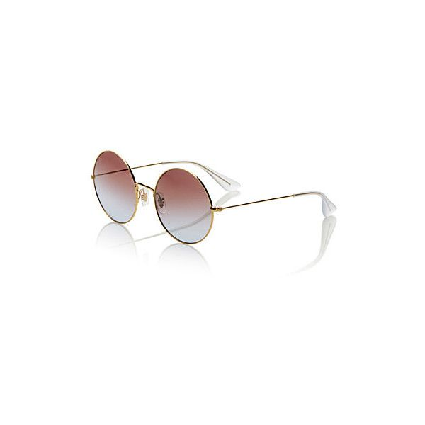 Ray-Ban Ja-Jo round sunglasses ($160) ❤ liked on Polyvore featuring ...