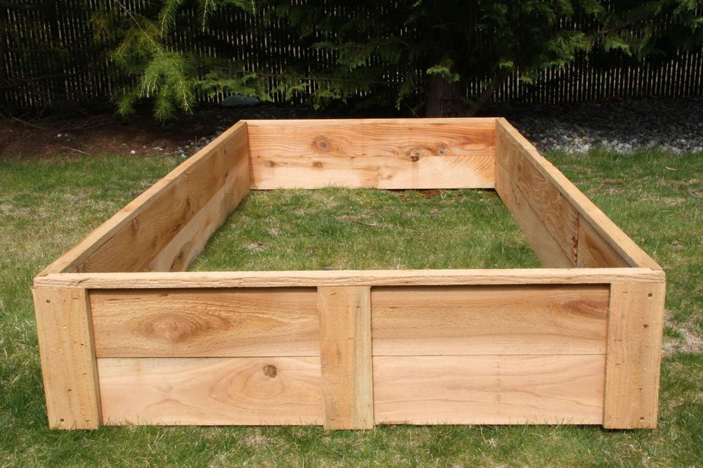 Bon 4u0027 X 8u0027 Cedar Raised Bed Garden Boxes USA Made Grow Your Own Organic  Vegetables | EBay