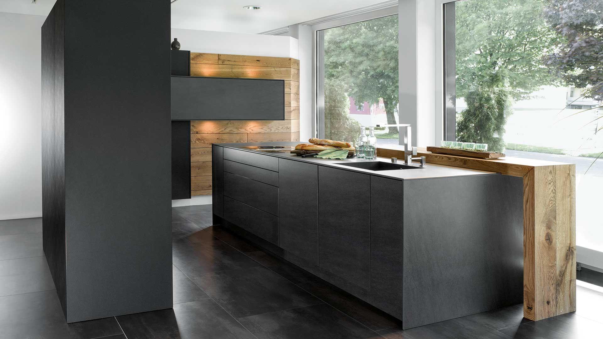 Bildergebnis für küchen anthrazit | kueche | Pinterest | Küche ... | {U küchen mit bar 16}