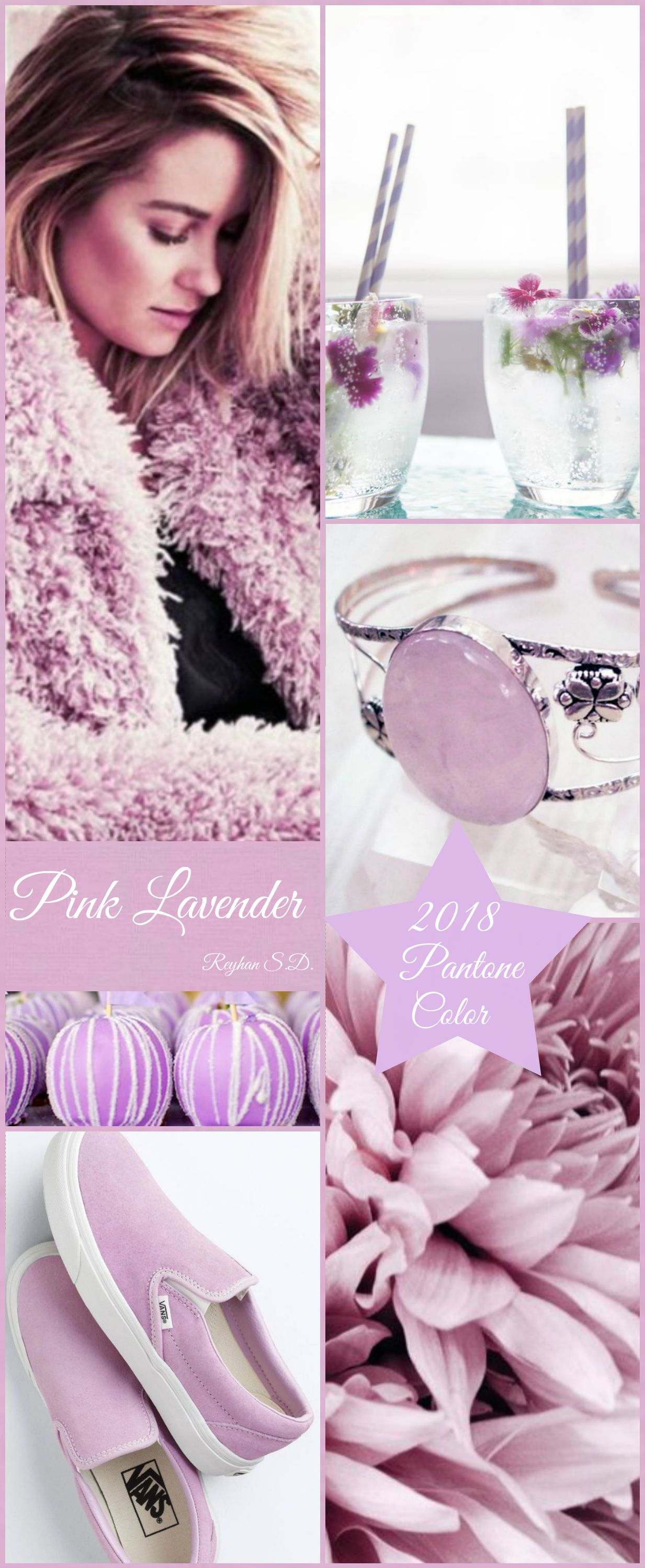 Color Trending Pink: '' Pink Lavender- 2018 Pantone Color '' By Reyhan S.D