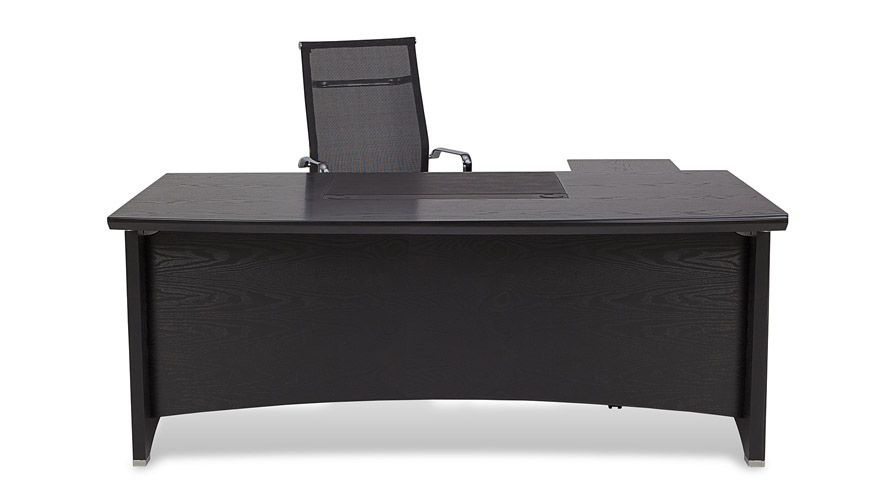 Washington Executive Desk With Return And File Cabinet Black Modern Contempo Office Furniture Modern Modern Home Office Furniture Unique Office Furniture