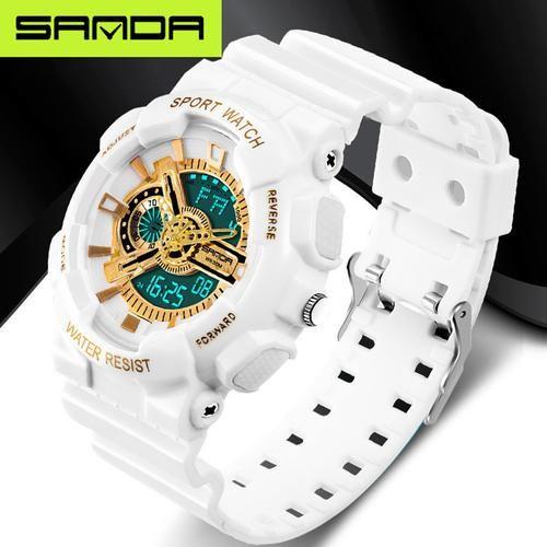 121afd1e65b Relógios masculinos relógio de esportes G estilo à prova d água de luxo  analógico Quartzo Digital Eletrônicos Relógios Masculinos
