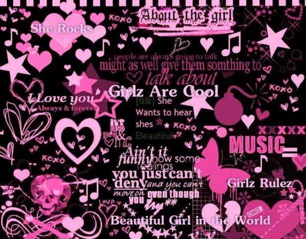Trixie123 Photo Pink And Black Emo Wallpaper Emo Backgrounds Emo Princess