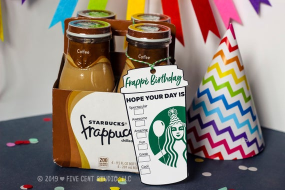 Frappé Birthday Starbucks Birthday Parody Logo Coffee Cup