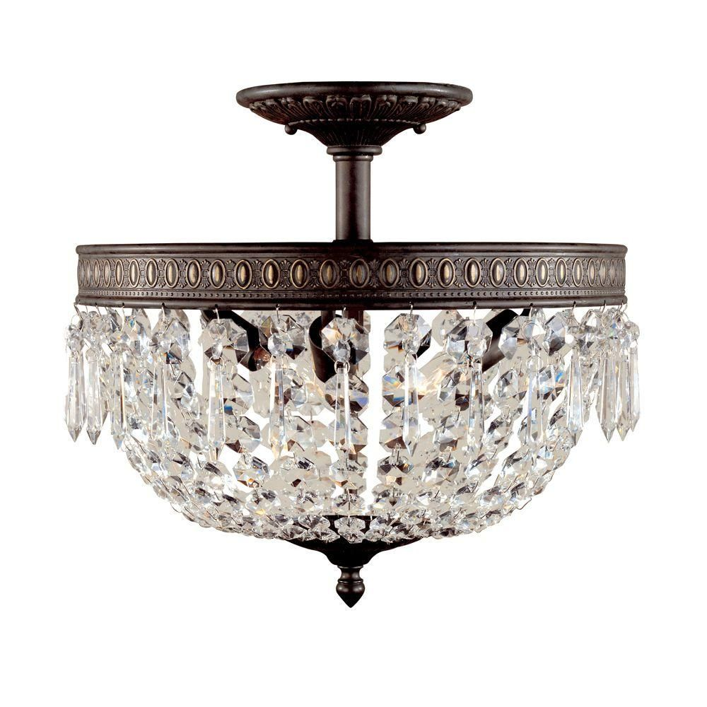 World Imports Bijoux Collection 3 Light Flemish Semi Flush Mount Wi237306 The Home Depot