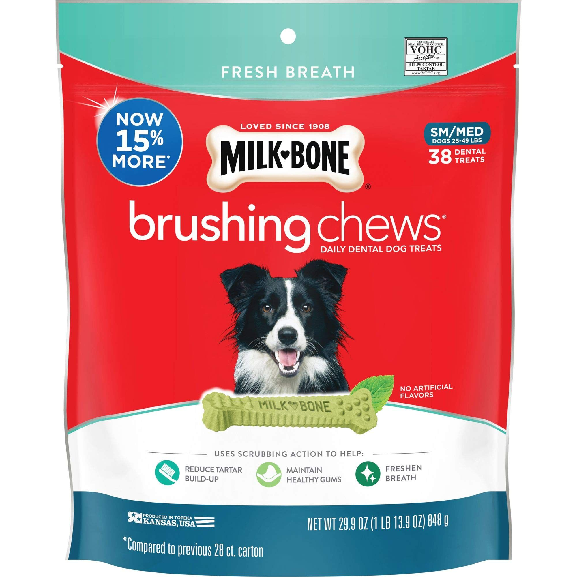Milk Bone Brushing Chews Daily Dental Dog Treats Want To Know