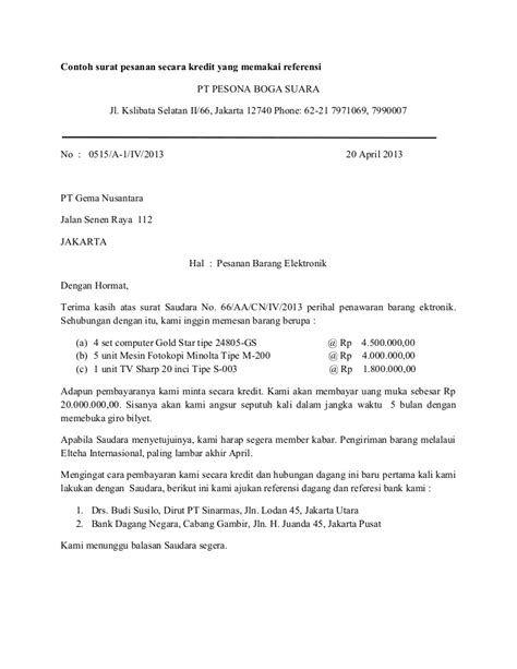 Contoh Surat Pesanan Konsumen Contoh Surat Pesanan