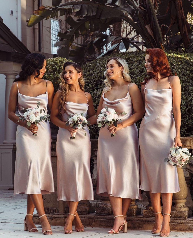 50++ Cowl neck bridesmaid dress information