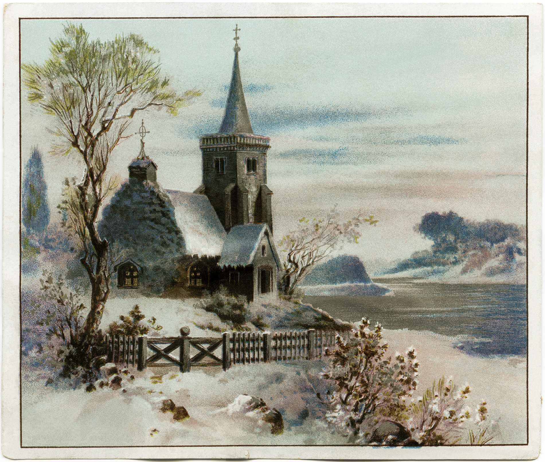 victorian advertising card, vintage Christmas clip art ...