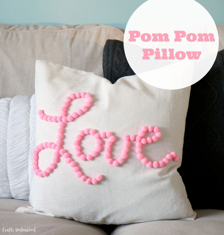 DIY Pom Pom Pillow: Love Themed - Consumer Crafts & DIY Pom Pom Pillow: Love Themed - Consumer Crafts | Sewing diy ... pillowsntoast.com