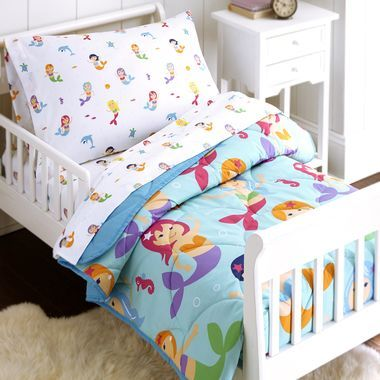 Olive Kids Mermaids Toddler Bed In A Bag 4 Pc Toddler Bed Set Mermaid Toddler Bedding Toddler Bed