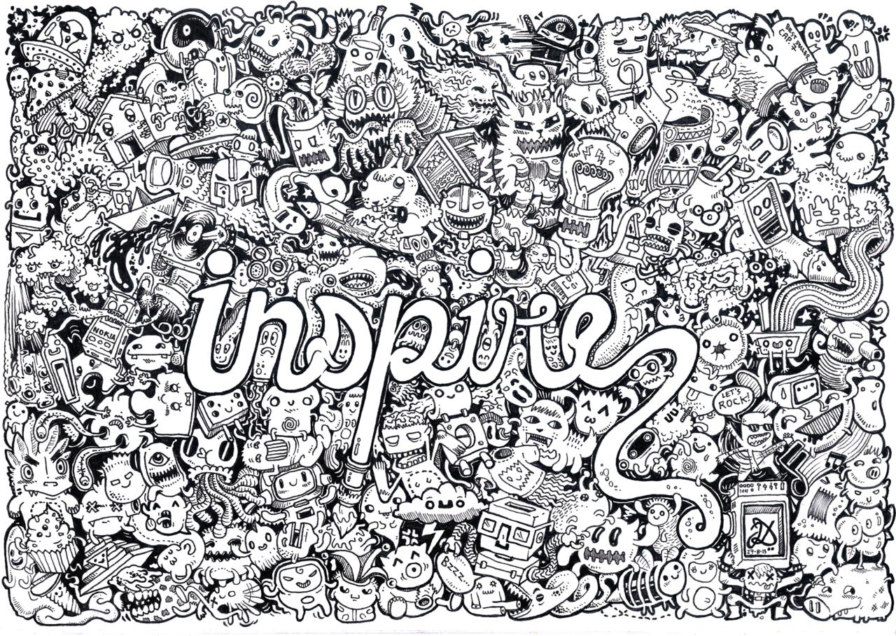 Line Art Doodles : Inspire doodle by natas viantart on deviantart