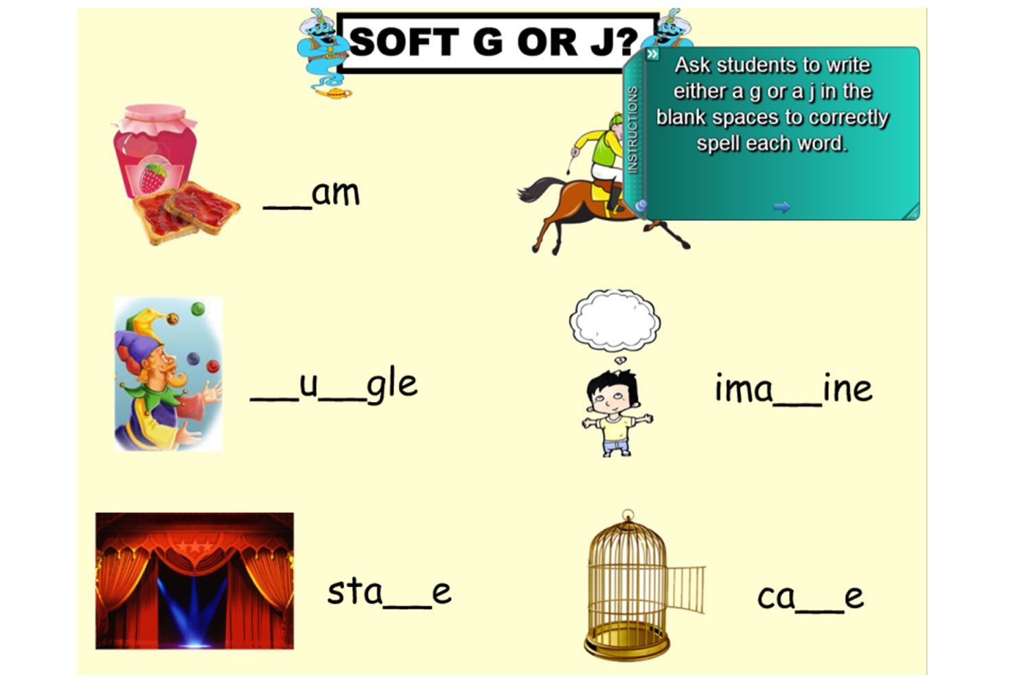 Explore The Hard And Soft Sound That The Letter G Makes